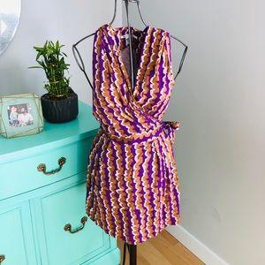 DVF wrap dress with hood Sz 6